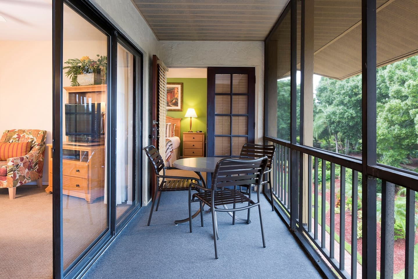 Sit out and enjoy the fresh air on your private balcony.