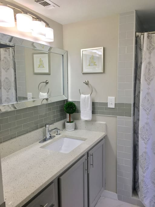 Resort style master bathroom