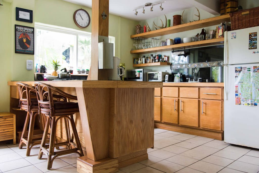 large kitchen with everything you need to prepare meals