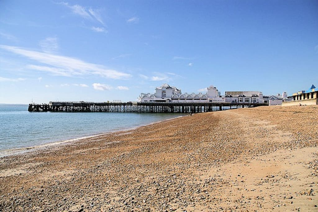 The seafront is just 15-20mins walk away