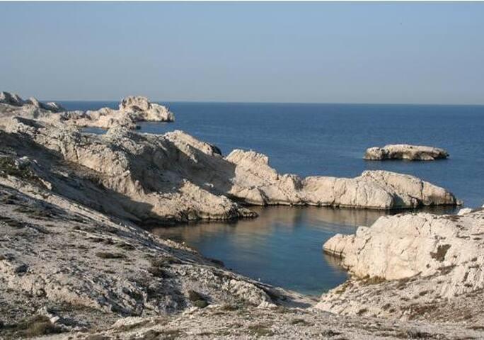 îles du Frioul, loue appartement 4 couchages - Marseille - Lakás