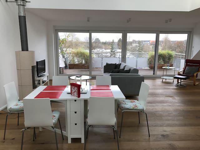 Luxus Penthhouse with roof terrace in Cologne City - Köln - Lejlighed