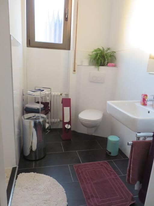 Cute Bath with huge shower/ Süßes Bad mit riesiger Dusche