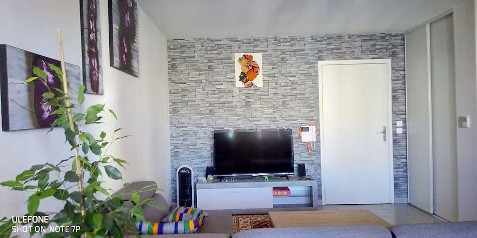 Chambre dans appartement proximité centre ville .