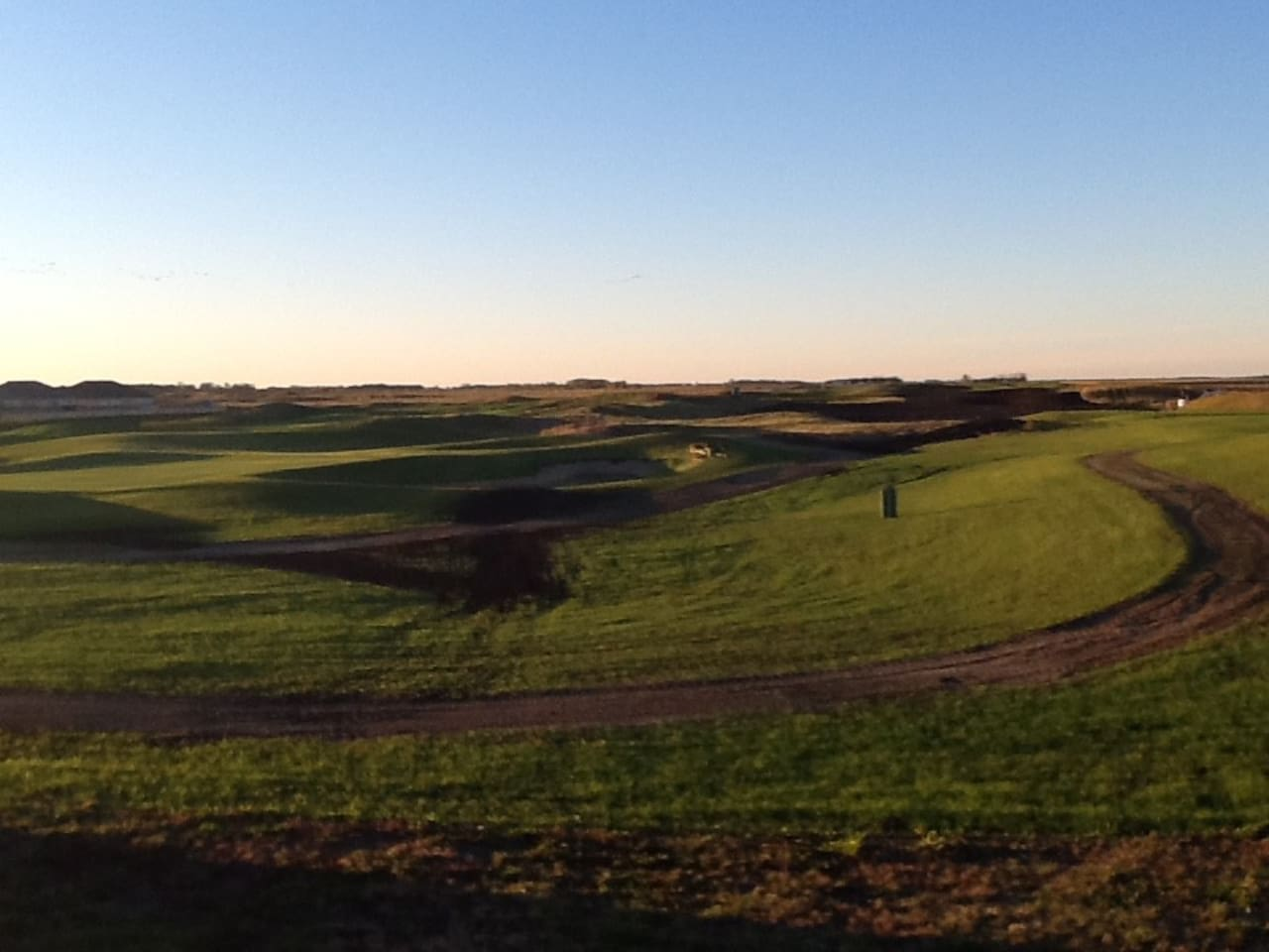 Our back yard backs onto Old Drovers Golf Course. A new Links course in 2016.