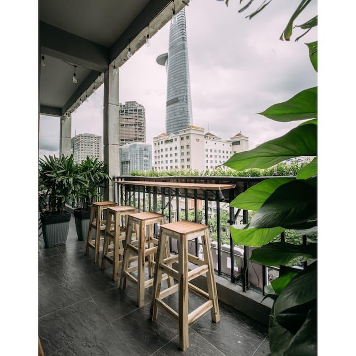 Big Balcony on Nguyen Hue + 2 Beds by CIRCADIAN