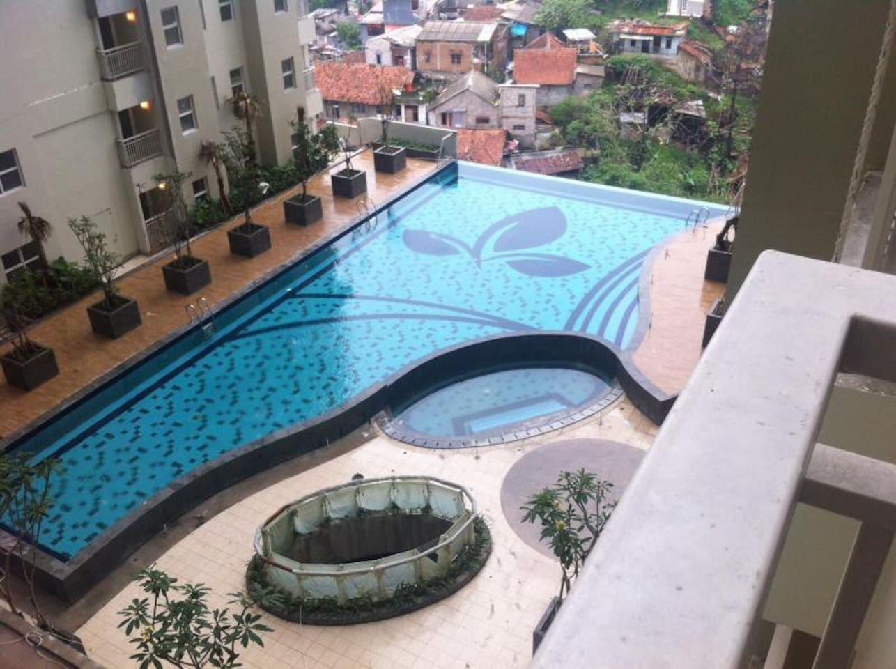 Large swimming pool @Parahyangan residence