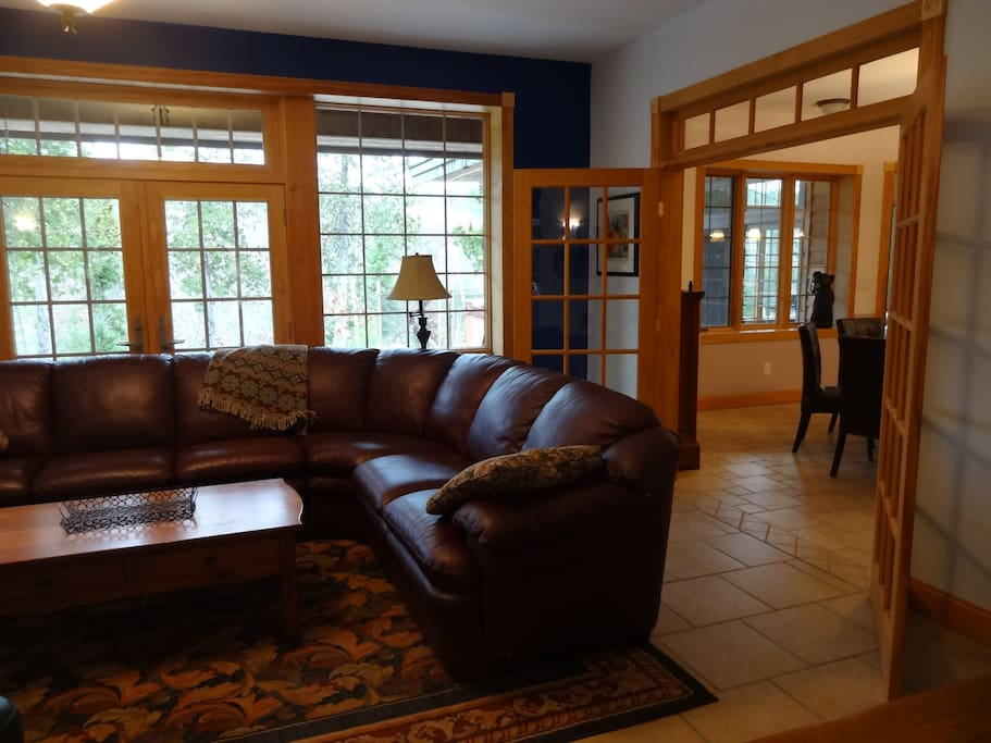 Open to eat-in Kitchen, or just close the doors for quiet time in front of the fire.