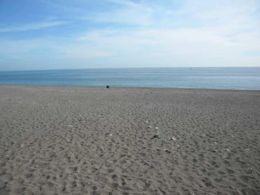La spiaggia di fronte