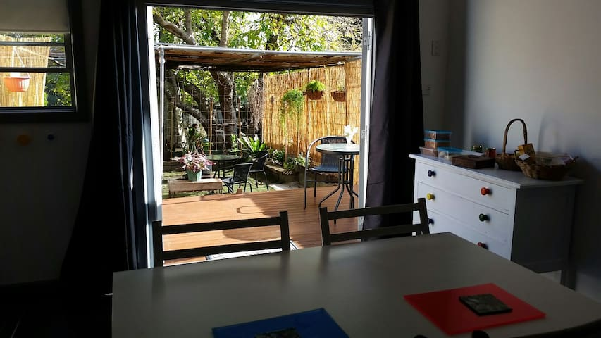 Garden studio close to bush and beach.