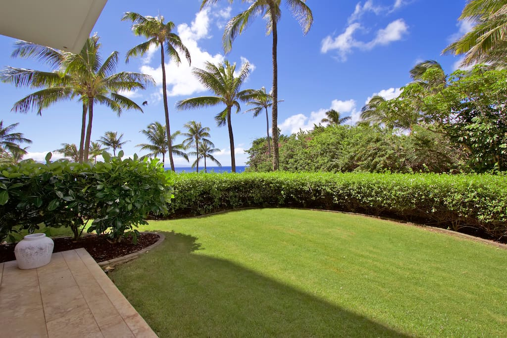Private yard with full ocean view.