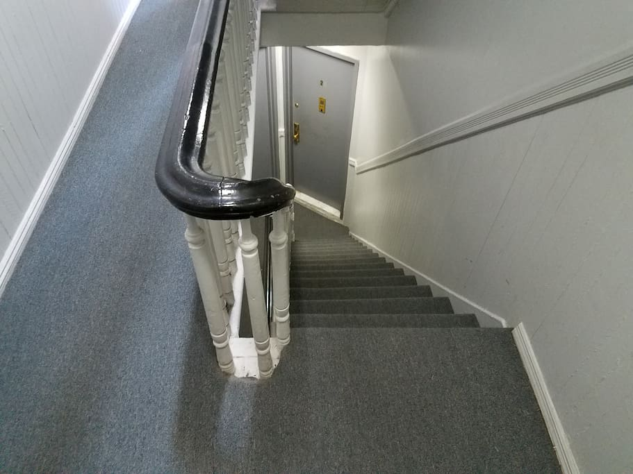 4 flights of stairs to the apartment
