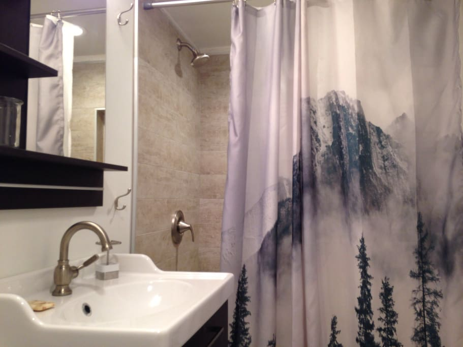 Bathroom with a Northwest touch!
