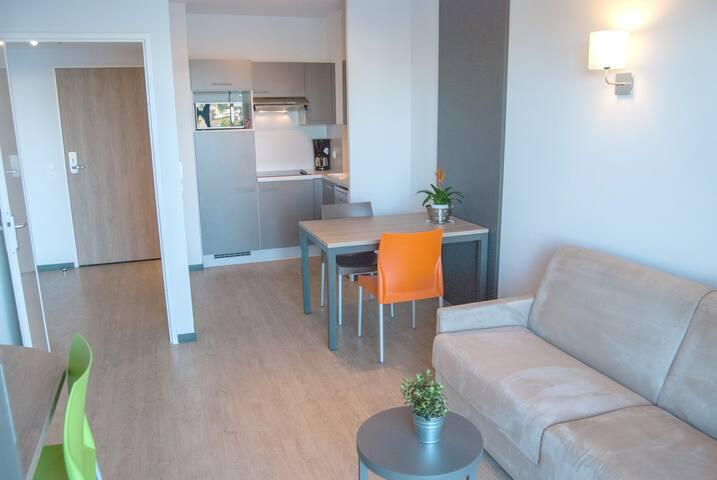 Appartement 4 personnes avec terrasse au calme