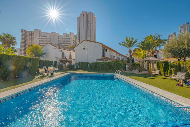 Town House at Levante Beach (WiFi, Air Con, UK TV)