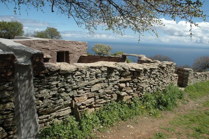 A Cycladic Stone Hut in Kea, Greece