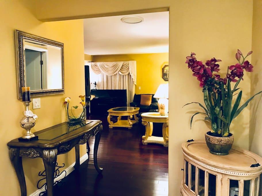 Formal Living Room Walkway