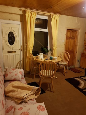 House is 5 min walk to town and train station.