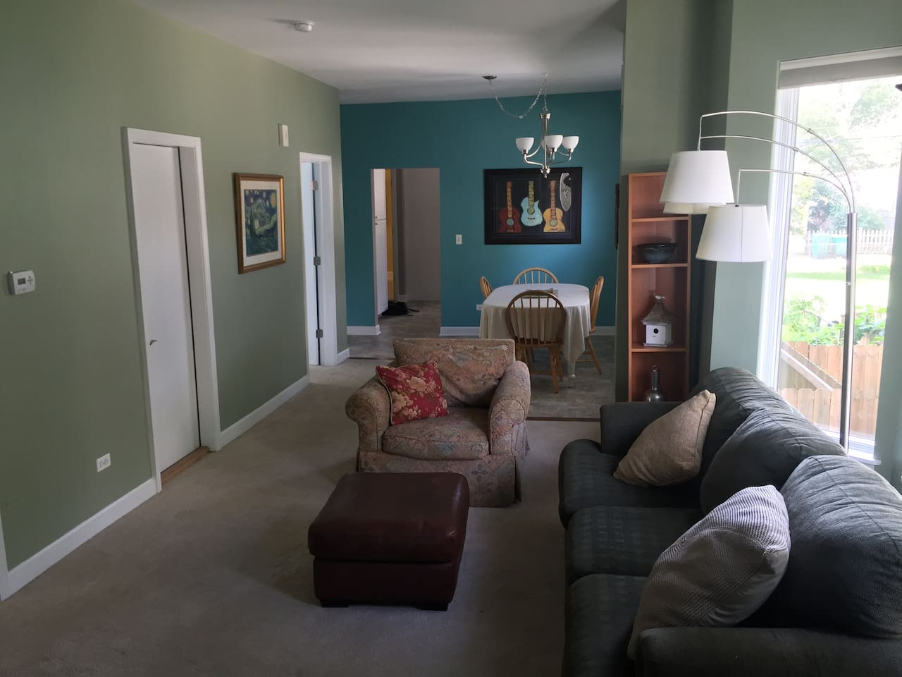 Sunny Living Room/Dining Room