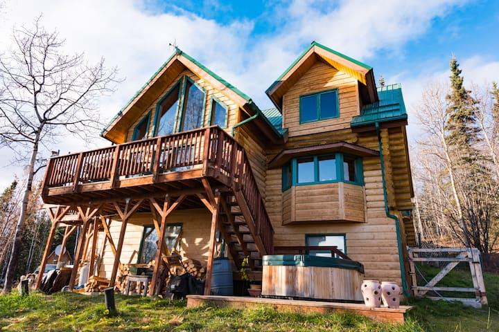 Log Chalet Home ~ An Alpine Getaway With Views