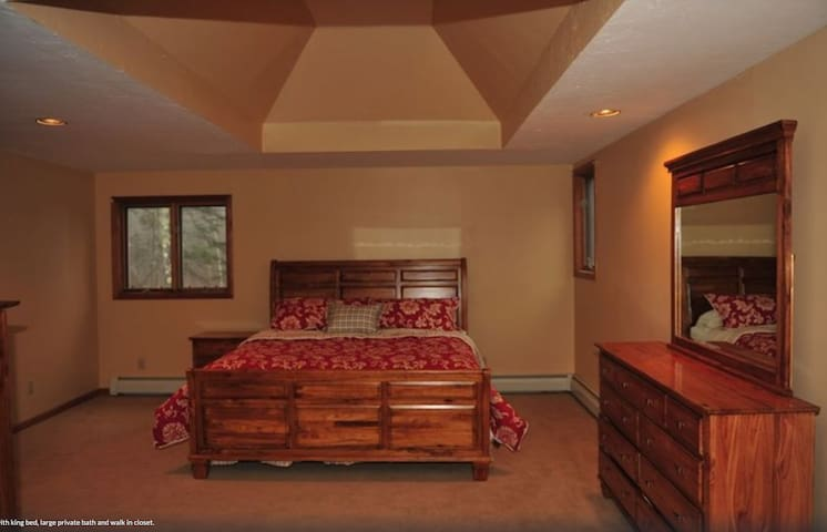 Master Bedroom with full bath.