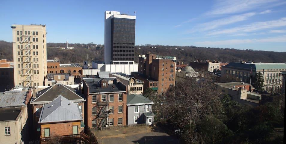 Historic Grandeur Atop Downtown: The Giselle Suite