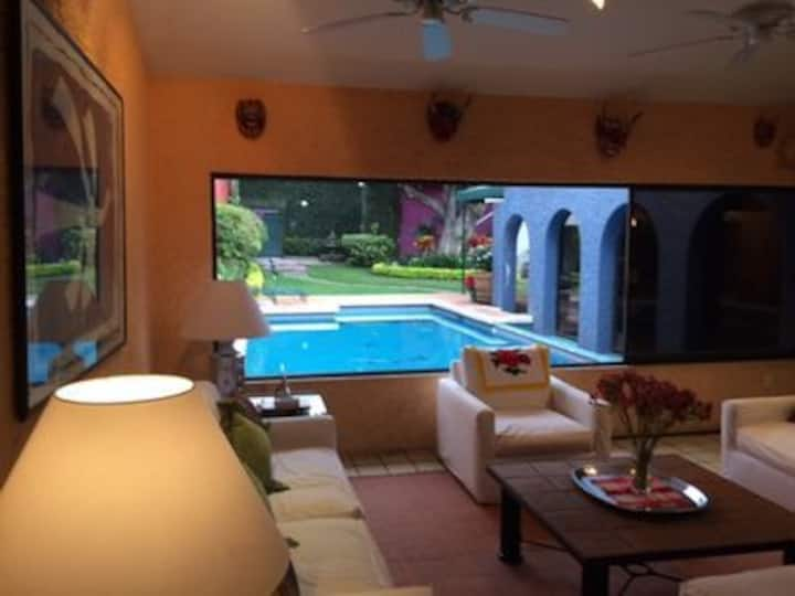 Indoor/Outdoor Living in Cuernavaca Neighborhood