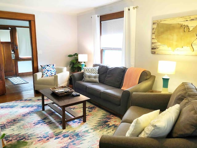 Steps to Drake, Minutes to Downtown w Patio+Yard!