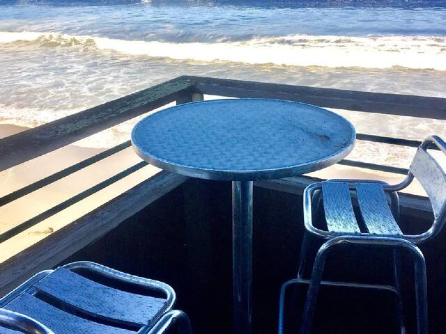 Your own private bar table and stools to look over the entire Del Monte Beach.
