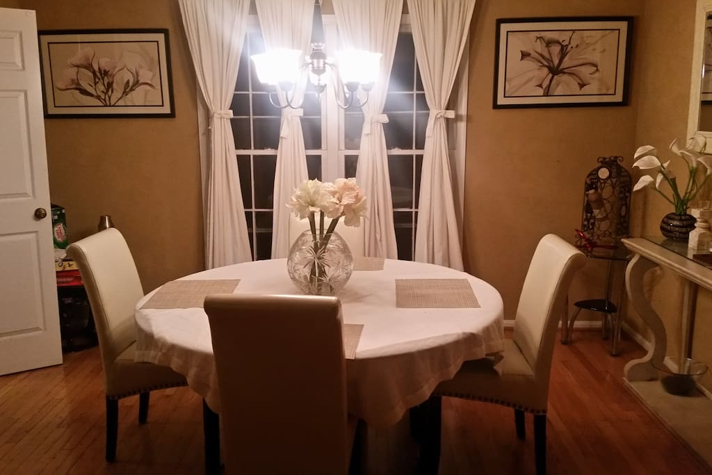Enjoy your meal in our dining area. Consider this your home away from home