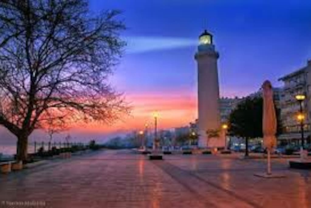 Alexandroupolis Lighthouse. The room is 5 min. by feet far away in the absolutly City.