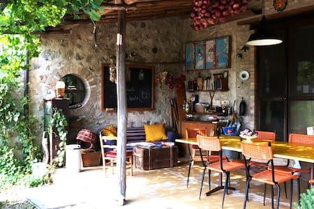 a private room at Podere Noceto