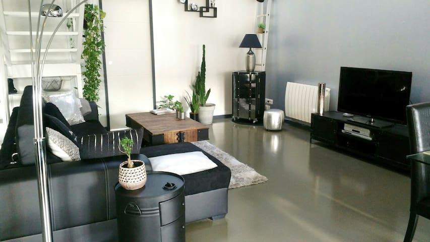 Chambre atypique dans grand appartement type loft
