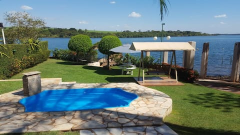 Rancho a Beira do Rio Grande a 45 km de Uberaba