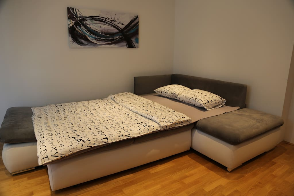Sofa bed for 2 in living room