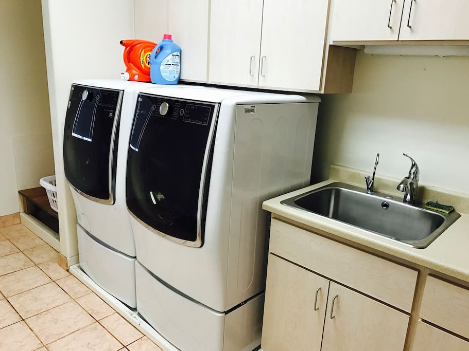 High Efficiency laundry room available for use