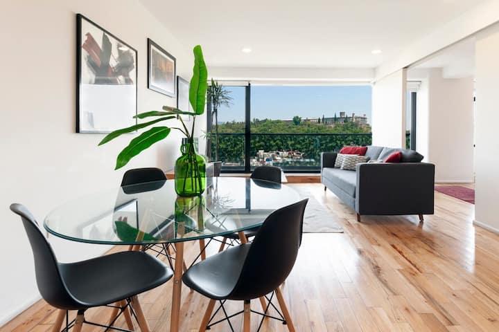 Condesa Comfortable Apt. -Stunning view  5⭐