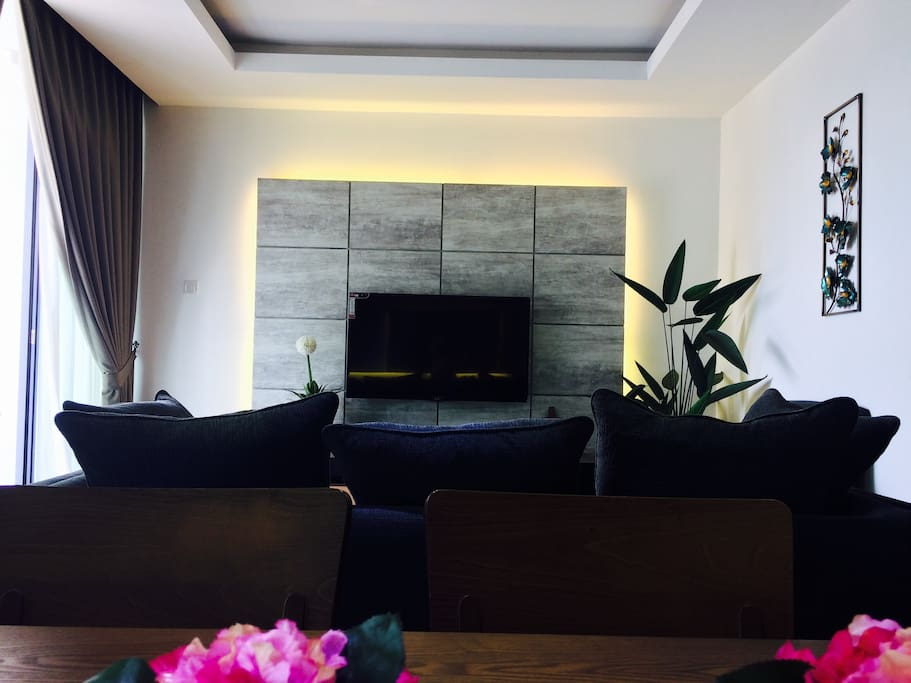 the living room kuching colin homestay vivacity megamall high speed wifi 14693