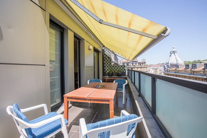 MATXIO: Families, terrace, center, La Concha Beach - Donostia - Apartment