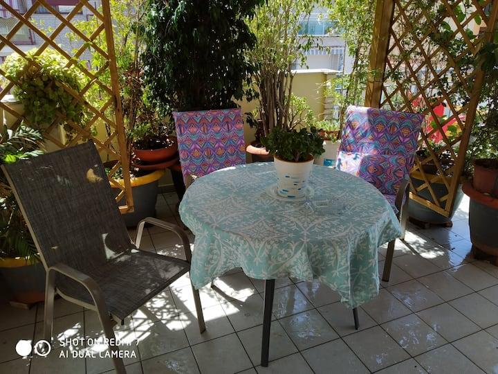 Habitacion familiar con cocina terraza playa
