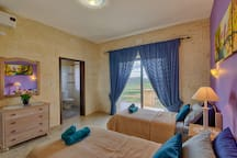 Twin Room with Ensuite Bathroom with Panoramic Valley and Sea Views