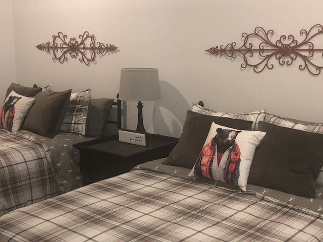 Main bedroom with 2 double beds