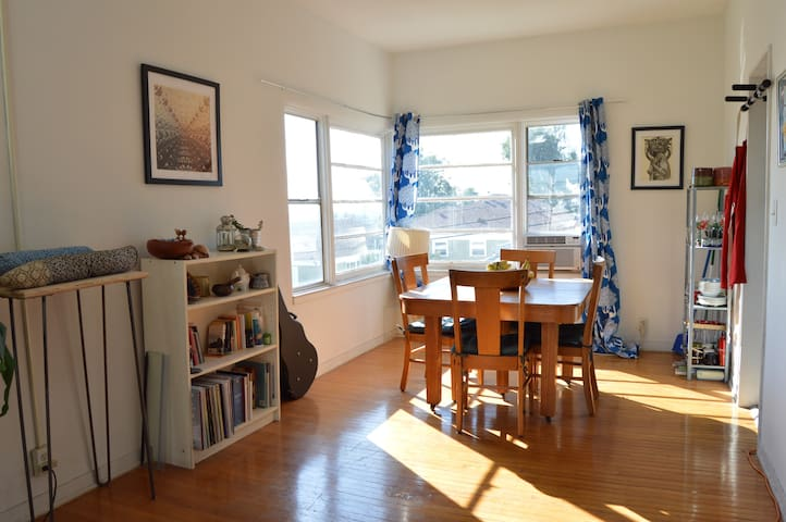 East Hollywood artist's apartment with great views