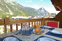 Breathe the fresh mountain air on your private balcony or terrace. (Views may vary).