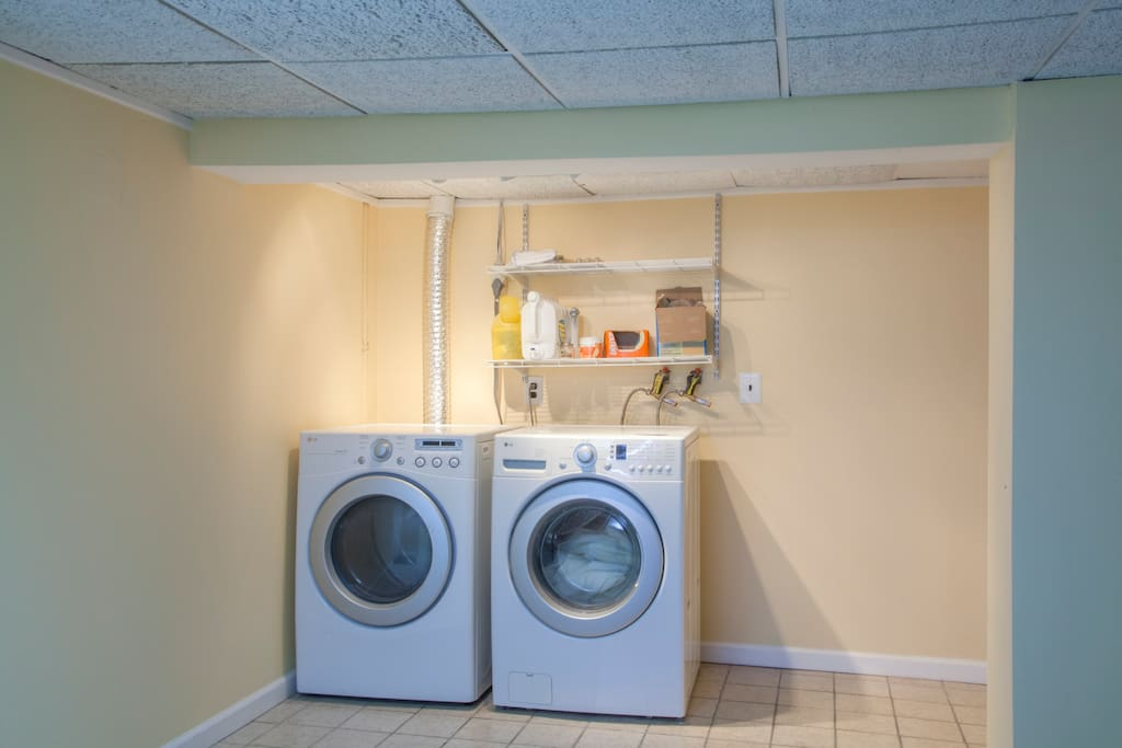 Washer and dryer available for your use if needed.