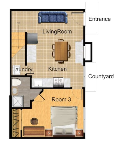 Comfy Townhouse (3Bedrooms/2Baths) Walking to UCR