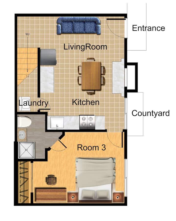 Cozy house (3Bedrooms/2Baths) Walking to UCR