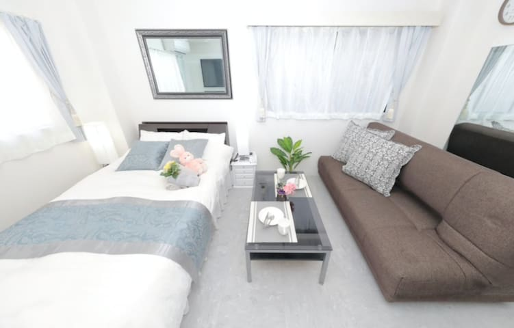 !!SALE!!Clean!2min to the nearest Sta,2Bed for4PAX