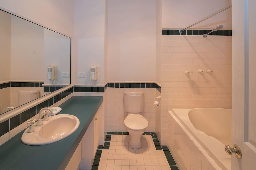 bathroom with large spa bath