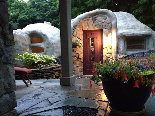 Your private stone terrace entrance.